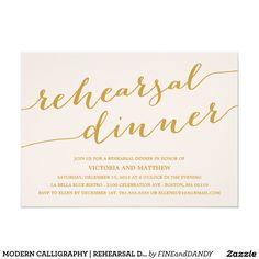 MODERN CALLIGRAPHY | REHEARSAL DINNER INVITATION | Unique Weddings