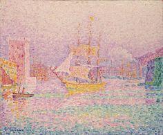 Paul Signac (French, 1863-1935),Harbor at Marseille, 1907. Oil on canvas, 46 x 55 cm.