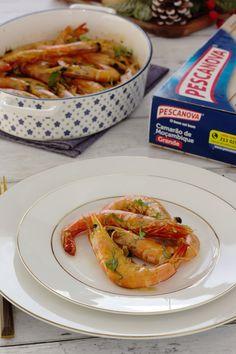 Shrimp, Meat, Cooking, Collard Greens, Garlic, Corn Spoon Bread, December, Orange, Oven
