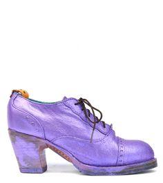 No.0019 CROSSWALK cap toe oxford Purple Metallic