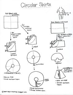 [Circular skirt tutorial. Great for dress up, everyday or a Halloween costume