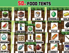 Decorate your Minecraft themed buffet table with these awesome food tents! Each foldable card is 3″x6″. WHAT YOU GET This listing includes 18 PDF files with 3 designs per sheet: Cake, Water and Dirt Grass Block Carrot, Cookie and Coal Golden apples, Fish and Red Stone TNT, Emerald and Diamond Watermelon, Sticks and Gold Hamburger, […]