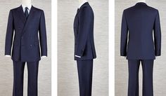 4efb7f72428 Men s Navy Blue Double breasted Bespoke Suit by DanielandLade