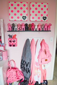 I can do this with the ikea dog butt hooks, then paint them to look like the PINK dog logo!