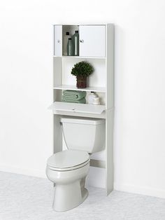 Drop Door Bathroom Spacesaver, White