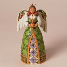 Jim Shore for Enesco Heartwood Creek Irish Angel with Claddagh Ornament, With her hands folded in a pose inspired by the Claddagh Ring; this beautiful Irish Angel ornament is a lasting symbol of love; loyalty and friendship. Jim Shore Christmas, Christmas Angels, Christmas Ornaments, Irish Christmas, Christmas Things, Christmas 2017, Christmas Decor, Merry Christmas, Irish Wedding Traditions