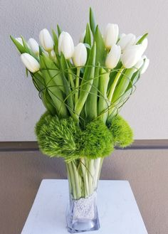 Send the Ice Tulips bouquet of flowers from Apropos Floral & Event Design in Beverly Hills, CA. Local fresh flower delivery directly from the florist and never in a box! Tulpen Arrangements, White Flower Arrangements, Flower Centerpieces, Flower Decorations, Wedding Centerpieces, Home Flowers, Simple Flowers, Beautiful Flowers, Flowers Garden