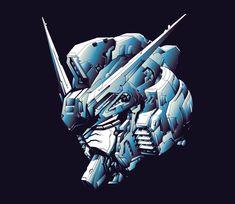 Digital Illustration of a Gundam head. Arte Gundam, Gundam Art, Gundam Head, Custom Gundam, Mobile Suit, Popular Culture, Cool Drawings, Digital Illustration
