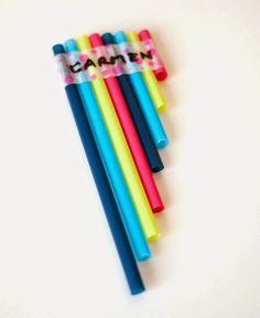 Flauta con pajitas