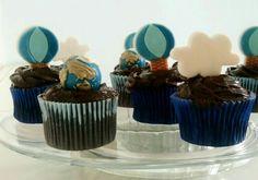 Cupcakes globo, nuvem e balão