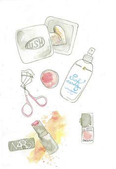 Summer Makeup Illustration by coolgirlstyle, via Flickr