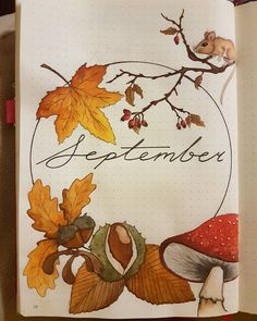 40 September Bullet Journal Cover Pages to Inspire You It's time to start planning our September Bullet Journal pages! From cute hedgehogs to hot air balloons there's a cover page here to inspire you! Bullet Journal Cover Page, Bullet Journal Writing, Bullet Journal 2020, Bullet Journal Ideas Pages, Journal Covers, Bullet Journal Inspiration, Journal Pages, Bullet Journal September Cover, Autumn Bullet Journal