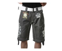 Men's GEOGRAPHICAL NORWAY Grey Shorts Sale Price: $60.00 Orig: $90.00 Collection: PLANCHE Color(s): Grey - White - Gold Composition: 100 % Cotton 4 Outside pocket(s) Brand logo, Pattern, Over-stitching embroidery, Zip and button fastener