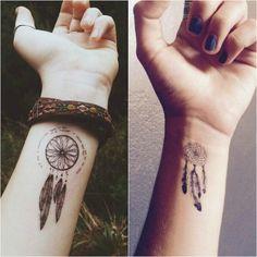 tatouage discret pour femmes - l'attrape rêve est idéal pour le poignet