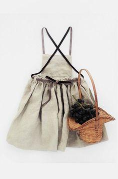 Handmade Linen Dress With Velvet Ribbon   moonroomkids on Etsy