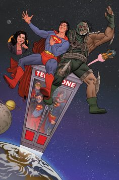 Action Comics #40 variant cover - Bill & Ted's Excellent Adventure by Joe Quinones *