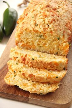 This Jalapeno Cheddar Quick Bread is a great addition to your dinner table. In about 1 hour you can have fresh baked bread to serve alongside your soups, stews or casseroles. Easy and delicious!
