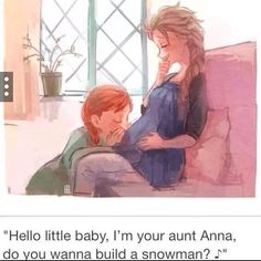 Elsa and Jacks baby ft Anna awwww this is like the freaking cutest thing I've ever seen!!!!