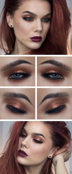 Copper smokey look