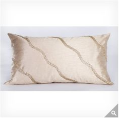 Bling Silk Silver Diamond Rhinestone Rectangular Pillow: A great pillow to pair with the Bling Silk Silver Diamond Rhinestone Pillow!