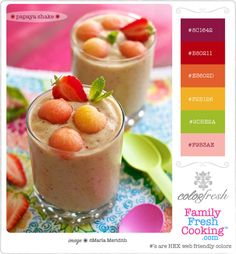 ColorFresh color palette { Papaya Shake } for design inspiration on FamilyFreshCooking.com photo © MarlaMeridith.com