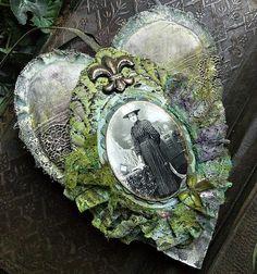Lace heart ornament.