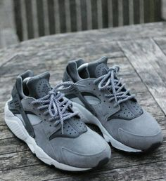 Grey Huarrache #Nike #Huarrache #Sneakers
