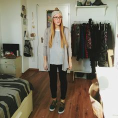 nike janoski, stripedshirt, stripes, look, outfit, headband, headpiece, daily look, university student look, glasses, big glasses