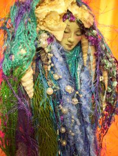 Sea Goddess..... Original Art Dolls by Kandra Niagra