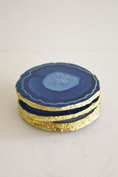 Agate Coaster Set from High Street Market | Ten Best Hostess Gifts | Camille Styles