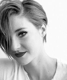 Theo James, Shailene Woodley talk about 'Insurgent' Tomboy Hairstyles, Gothic Hairstyles, Shailene Woodley, Short Hair Cuts, Short Hair Styles, Triangle Hair, Pixie Cut, Beautiful Celebrities, Hair Inspiration