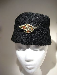 Vintage Curly Lamb Hat by HazelRoberts on Etsy, $15.00