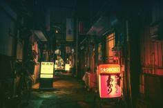 Resultado de imagen de calles de noche tokio