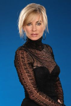 Pretty older woman. I hope I can age like this Eileen Davidson, Vanderpump Rules, Medium Short Hair, Denise Richards, Kaley Cuoco, Bold And The Beautiful, Young And The Restless, Ladies Of London, Real Housewives