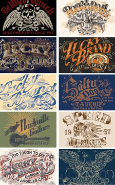 Lucky Brand Artwork by BioWorkZ , via Behance