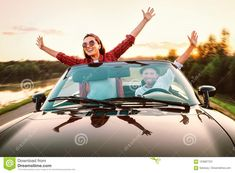 Car Travel, Time Travel, Couples In Love, Car Ins, Draw, Poses, Fresh, Sunset, Lifestyle