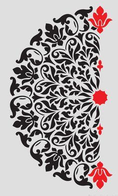 wall Stencil Designs - Mandala Stencil Tribal Pattern Surat for DIY Wall Decor Modern Home Decorative Stencils. Mandala Stencil modello tribale Surat per stencil decorativo Mandala template tribal pattern Surat templates We will continue to share the most Wall Stencil Designs, Wall Stencil Patterns, Stencil Fabric, Damask Stencil, Letter Patterns, Stencil Art, Fabric Painting, Stenciling, Tribal Patterns