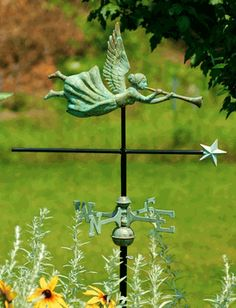 Angel Garden Weathervane- would love love love something like this for my new garden