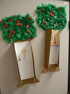 "Read the class the book ""The Giving Tree"" & then do this craft with them."
