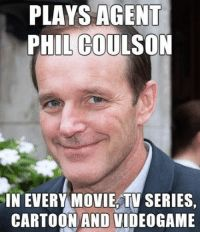 I thought Clark Gregg's dedication to his role deserved recognition I love Phil! - Clark Gregg's dedication to his role deserves recognition. Also, who doesn't love Phil Coulson? No one doesn't love Phil Coulson. Well then I guess this deserves to get sh Dc Movies, Marvel Movies, Movie Tv, Marvel Characters, Phil Coulson, Melinda May, Clark Gregg, Die Rächer, Short Hair