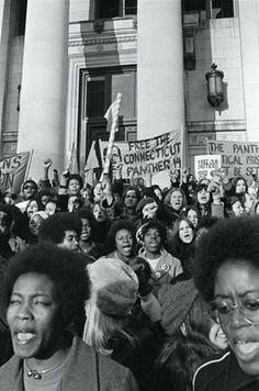 Black Panther Demonstration, New Haven, November 1969.