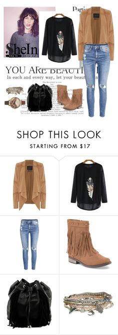 """SheIn"" by alien-official ❤ liked on Polyvore featuring Oui, H&M, Steve Madden, Aéropostale and Olivia Burton"
