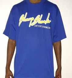 Sharp Shooter Entertainment Blue & Yellow T-Shirts – Available in sizes S M L XL XXL