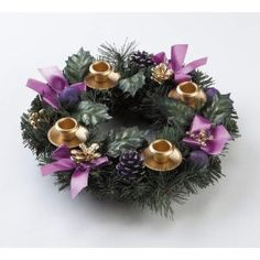 Advent Wreath - Purple Ribbon