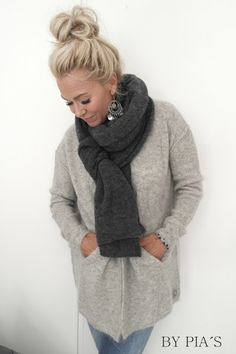 Lovely knitted cardigan by Pia's How To Make, How To Wear, Knitting, Winter, Sweaters, Clothes, Scarfs, Style, Fashion