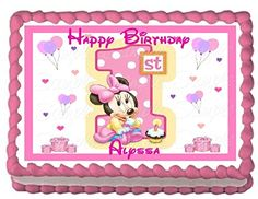 Baby Minnie Birthday Edible Frosting Sheet Cake Topper 14 Sheet >>> Details can be found by clicking on the image. (This is an affiliate link) Minnie Mouse 1st Birthday, 1st Birthday Parties, Decorating Tools, Cake Decorating, 1st Birthday Cake Topper, Frosting, Party Supplies, Fondant, Picnic