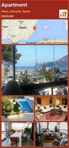 Apartment in Altea, Alicante, Spain ►€550,000 #PropertyForSaleInSpain