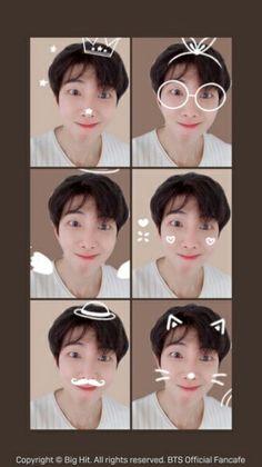 Stupid people: Stop using filters Namjoon: tries all the filters Jimin, Rapmon, Bts Bangtan Boy, Bts Boys, Seokjin, Kim Namjoon, Hoseok, Foto Bts, Bts Photo