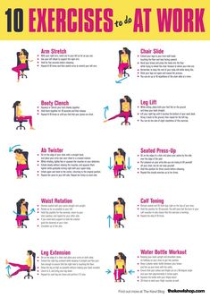Chair Exercises At Your Desk.Yoga At Your Desk 10 Min Office Yoga Stretches Chair . Chair Exercises Workout In Your Office Sitting At Your . The Easiest Most Effective Thigh Workout That You Can . Desk Workout, Workout At Work, Workout Men, Workout Plans, Yoga Routine, Night Routine, Workout Routines, Exercise While Sitting, Sitting Down Exercises