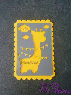 Un petite carte, pour une jolie naissance. Elle peut annoncer la naissance de votre bout de chou ou bien féliciter des heureux parents. A retrouver sur :http://www.alittlemarket.com/boutique/dccreations